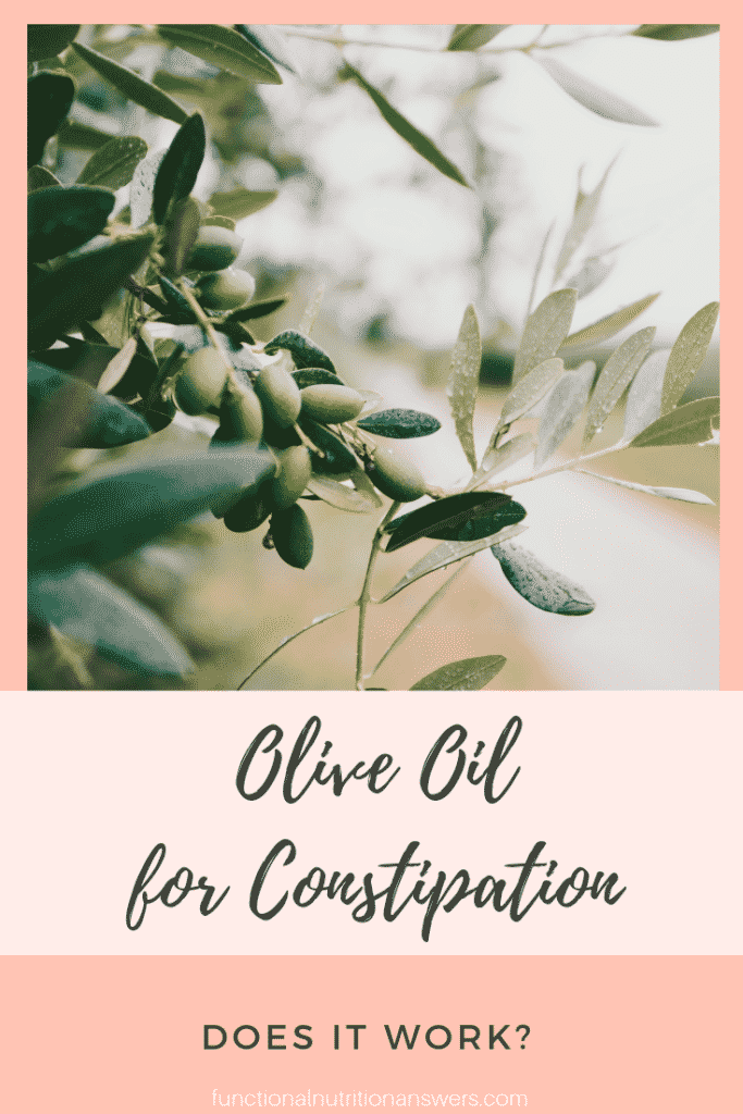 Olive Oil for Constipation from FNA